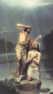 """Оригинал - Схема вышивки  """"Иисус и Иоан Креститель """" - Схемы вышивки - juliy2802 - Авторы - Портал  """"Вышивка крестом """" ."""